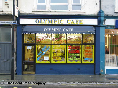 The Olympic Cafe, London. Now the Lympic Cafe, apparently