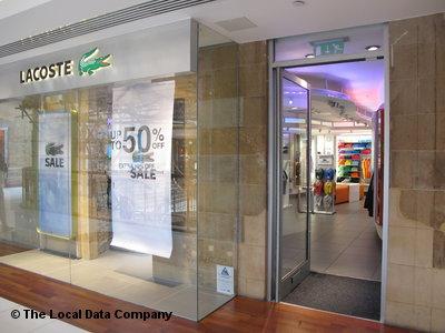 Lacoste. Fashion Shops. 41-42, Princes Square, 48 Buchanan Street,