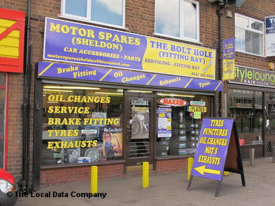 Motor Spares Sheldon Local Data Search