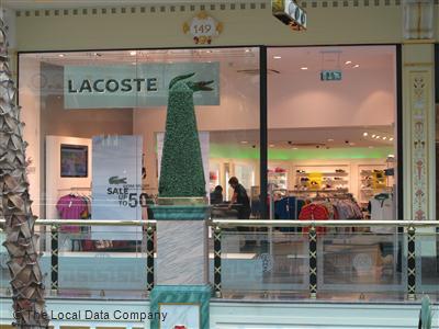 Lacoste Fashion Shops 149 Regent Crescent The Trafford Centre