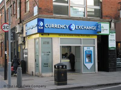International currency exchange local data search